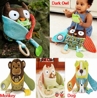 Wholesale 4 Design Featured Hug amp Hide Baby Activity Toys baby Stroller Toys Infant baby pram toy U Pick pc
