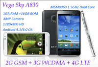 Wholesale 4 quot Pantech SKY Vega Racer A830S Android Cell Phone Dual Core GHz GB RAM GB ROM