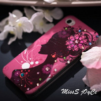 Wholesale Hot Iphone4s Diamond Phone Case Cover Iphone Mobile Phone Shell S Phone Protection Case piece