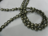 Wholesale 8mm Roundel Natural Pyrite Beads Gemstone Fit Necklaces Bracelets Making pc SDC41745
