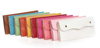 Wholesale 10pcs Fashion Women s PU leather Candy color Wallet CL0175