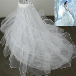 Wholesale Petticoat Layer Organza Bridal dress Underskirt Train Petticoat C184 Wedding Accessories Hoop