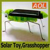 Solar Toy,Solar Power Robot Insect Bug Locust Green Grasshopper Toy Educational kid with 6 legs