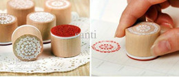 Wholesale gift stamp sweet lace series wood round stamp stamps