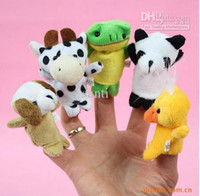 Wholesale finger puppets Plush Animal Finger Puppet Baby Plush Toy Finger Puppets Talking Props