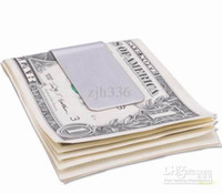 Wholesale Pieces New Portable Stainless Steel Money Clip Credit Card Holder Wallet Silver