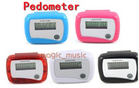Wholesale LCD Counter Electronic Digital Pedometer Mini Single Function Step Run Pedom Counter to