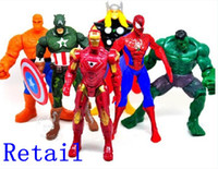 Wholesale Spiderman the Hulk CM Action Figure Doll Toys The Avengers set Marvel Hero Captain
