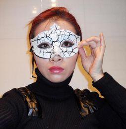 Hip Hop Dance Mask Crack Halloween Mask Pretty mardi gras Party costume novelty wedding gift 100pcs lot EMS free shipping