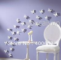 42 pcs   pack DIY 3D Wall Sticker Butterflies Home Decor Roo...