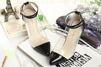 Wholesale Lady Transparent Shoes Dress Shoes Candy Color Mix Order New Arrival