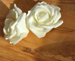 """80pcs 6.5cm 2.56"""" PE Foam Artificial Simulation Rose Camellia Flowers DIY Bridal Bouquet Kissing Bal"""
