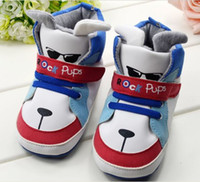 baby rock shoes - children s shoe rock pups Cute cartoon Baby Shoes BOYS Toddler soft sole baby shoe pair