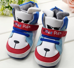 Wholesale children s shoe rock pups Cute cartoon Baby Shoes BOYS Toddler soft sole baby shoe pair