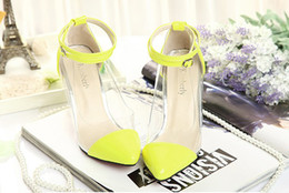 Dress Shoes Transparent Shoes High Heel 2013 High Quality Black Yellow Pink Free Shipping 0309