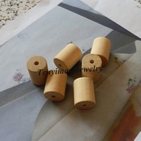 Wholesale Wood Beads x25mm Cylinder Shape Wood Accessory For DIY