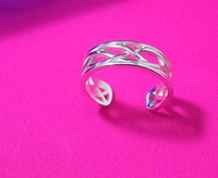 Wholesale hot sale silver toe rings