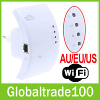 Wholesale Wireless N Wifi Repeater N B G Network Router Range Expander M dBi US EU AU Plug Free DHL