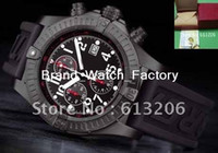 Sport Men's Round LIMITED EDITION SUPER AVENGER WATCH 3000 MADE M1337010 Rubber Black Date Mechanical box Mens Chronog