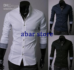 Wholesale 2012 New Fashion Style Men s Long Sleeve Shirts Casual Slim Shirt