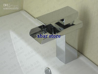 Waterfall Chrome Stainless Steel Chrome Finish Bathroom Waterfall Basin Faucet Mixer Tap