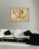 abstract ring - The Lord Of The Rings Middle Earth Map quot x quot Silk Poster