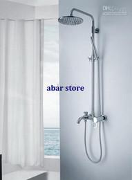 Wholesale Luxury Wall Mounted Brass Bathroom Rainfall Shower Faucet Set QJ