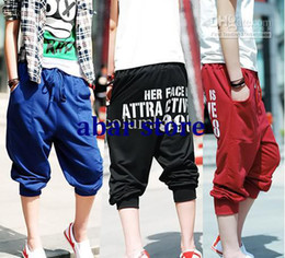 Wholesale 2012 New Fashion Korea Style Men s Casual Pants Slim Sport Leisure Shorts Pants K398 F35