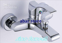 LED Chrome Brass Bathroom Shower Wall Mixer Tap Faucet Tub Spout JD-0503