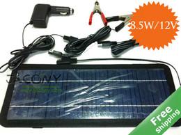 Солнечная батарея Автомобильное зарядное устройство зарядное устройство солнечная панель + 8.5W / 12V + Портативный дизайн + бесплатная доставка от Поставщики солнечная панель бесплатная доставка