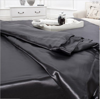 Wholesale 4 back color pure mulberry mm silk bedding sets at queen size fitted silk sheets set