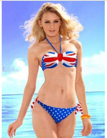 Wholesale The Flag Of UK Three Point Sexy Bikini Swimsuit Swimwear SW0002