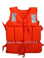 Wholesale Professional Orange Foam Swimming Life Jacket with Whistle Drop shipping