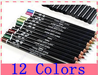 Wholesale 12 COLOR EYELINER Lip Eyebrow PEN Pencil BOX SET WEDDING PARTY MAKEUP SALON