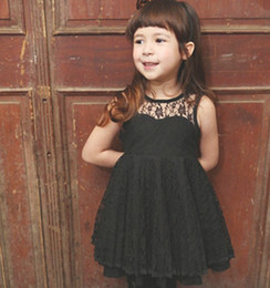 Wholesale Kids dresses chidren clothes backless lace Baby Skirt girls apparel summer children clothes