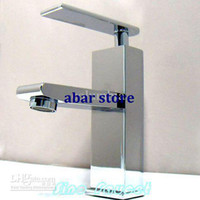 LED Chrome Stainless Steel Chrome Finish Bathroom Basin Faucet Mixer Tap A518
