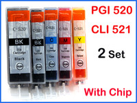 Wholesale 10 ink set for Canon PGI CLI with chip IP4700 MP620 MP540 MP640 MP560 MP980 iP3600