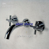 Wholesale Brand New Luxury Wall Mounted Bath Basin Faucet Mixer Tap A568