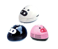 Wholesale Best Quality Beautiful Cute Pig Mini Desktop Vacuum Desk Dust Cleaner Handheld Desktop