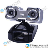 Wholesale High speed USB Double CMOS D Webcam Web Camera with D Glasses for Computer Laptop