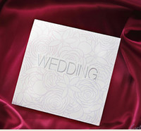 Wholesale Exquisite white letter Invitation Wedding Invitations come envelopes sealed card