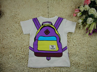 Wholesale 2013 Children Boys Bag Printing Short Sleeve T Shirts Baby Girls Cotton Clothing color