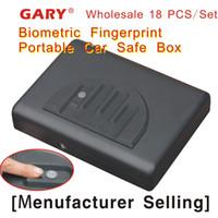 Wholesale 18 Patent MS500 portable travel biometric fingerprint gun carry on mini car safe box gun vault