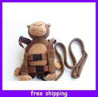 baby harness leash - Safety Harness Monkey Kid Toddler Backpack Leash Gold Bug Plush Safety Walking Reins