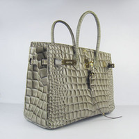 Wholesale Designer women leather handbags Luxury Crocodile bag double strap bag casual bag