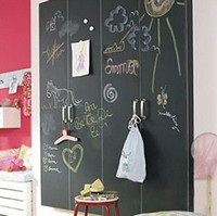 Wholesale 45 cm EMS Chalkboard Panels Wall s Slate Gray Black Board Chalk Wall Mural Sticker Decal blackb