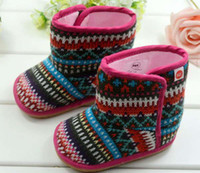 Wholesale Kids Snow Boots Fashion First Walking Shoes Girls Wool Boots Children Casual Shoes Baby Footwear