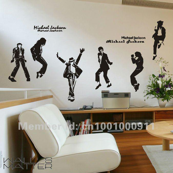 Tree Wall Decals Michaels : WALLS MATTER Home Decor Michael Jackson/MJ Wall  Stickers Wall