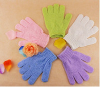 Wholesale 100pcs nylon bath glove x13cm retail packing