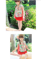 100-110-120-130-140 Girl 100% Cotton Kids T-Shirt girls Tee Shirt printing split joint Net yarn T-shirt children clothes summer wear